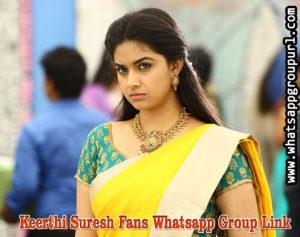 Keerthi Suresh Fans Whatsapp Group Link