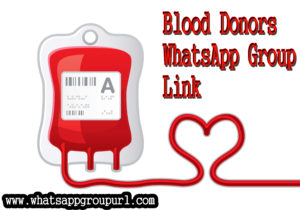 Blood Donors WhatsApp Group