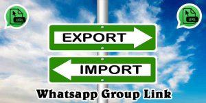 Export Import Whatsapp Group Link